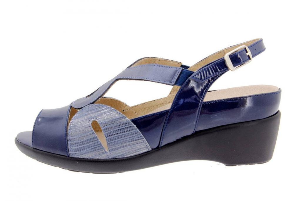 Removable Insole Sandal Patent Blue 1155