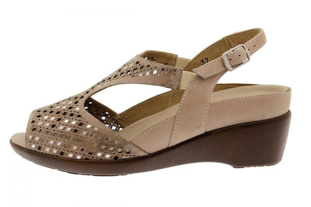 Removable Insole Sandal Nude Suede 1157