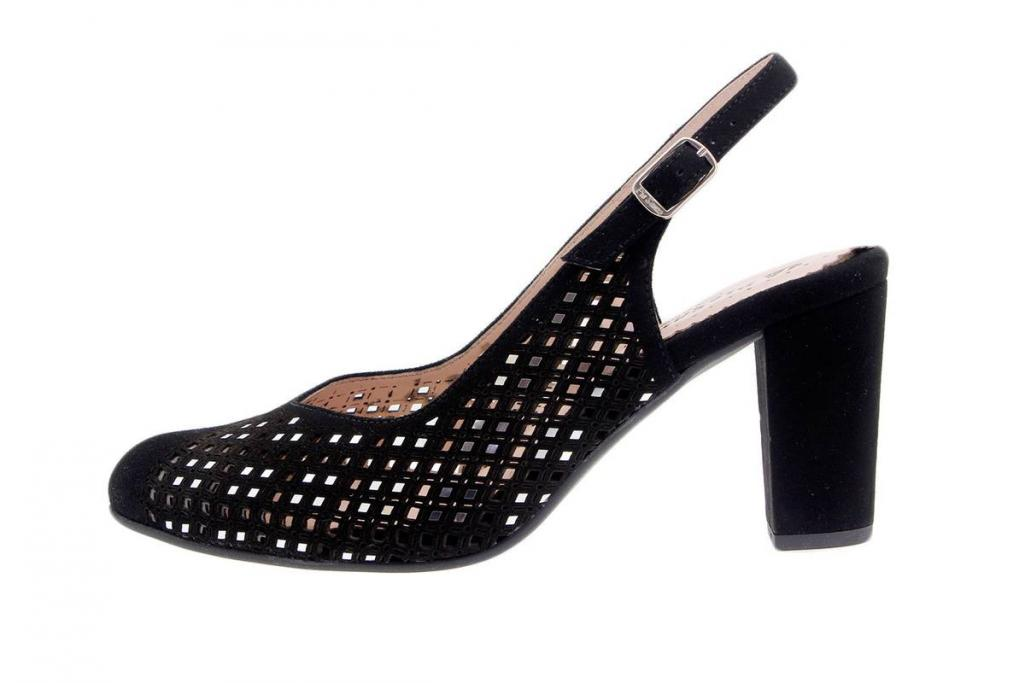 Dress shoe Suede Black 1277-F