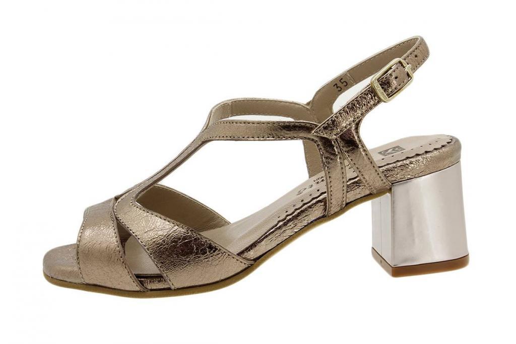 Heel Sandal Metal Nude 1495 Natur
