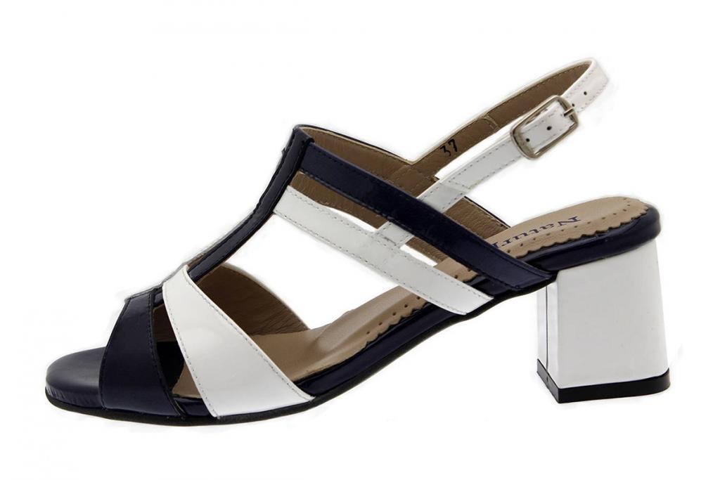 Heel Sandal Blue Patent 1496