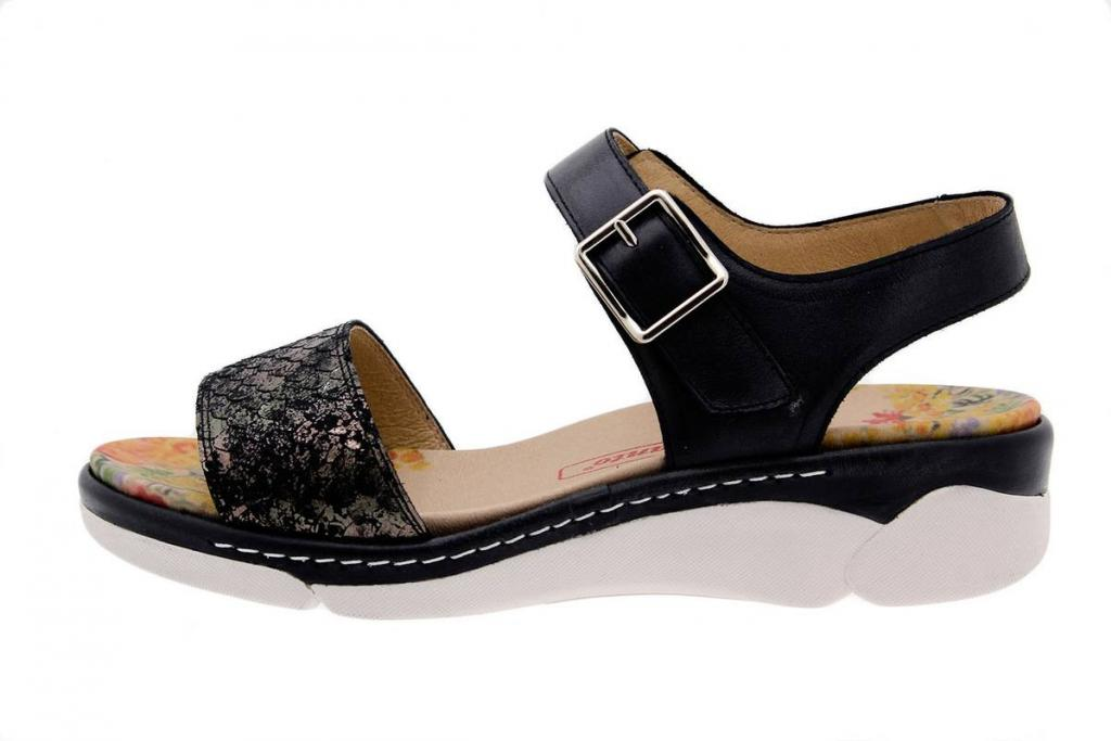 Removable Insole Sandal Snake Black 1501