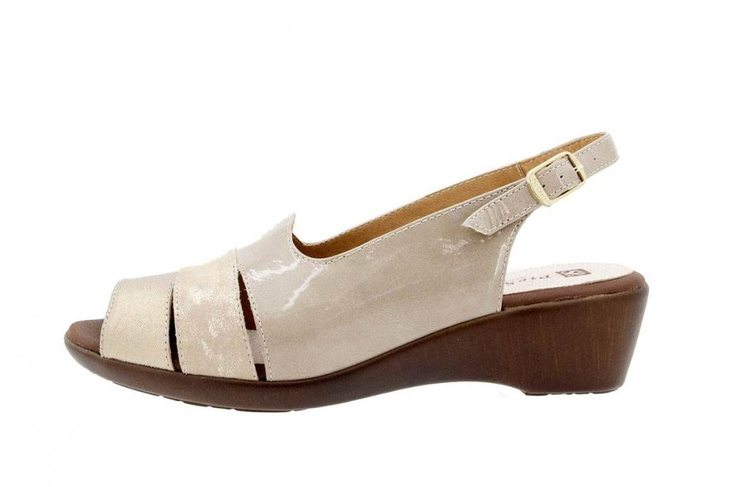 Wegde Sandal Leather Gold 1554