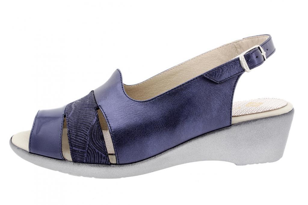 Wegde Sandal Blue Patent 1554