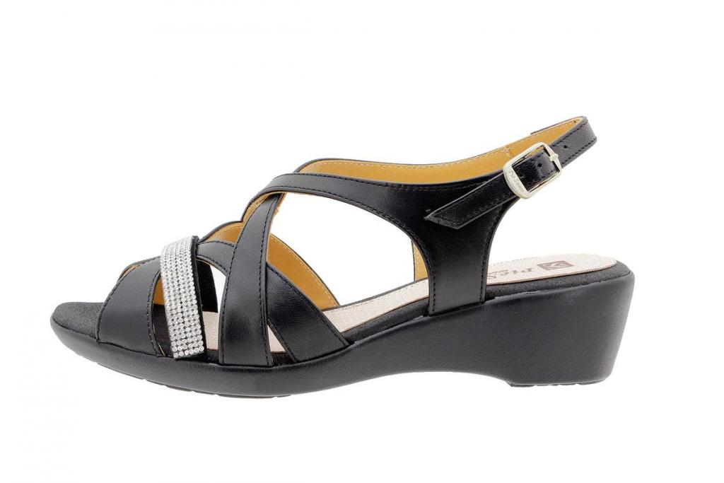 Wegde Sandal Leather Black 1558