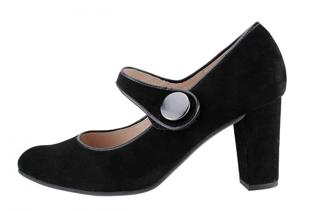 Mary-Jane Black Suede