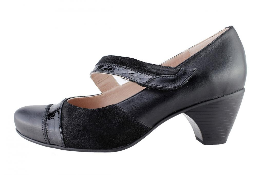 Mary-Jane Black Leather 175403