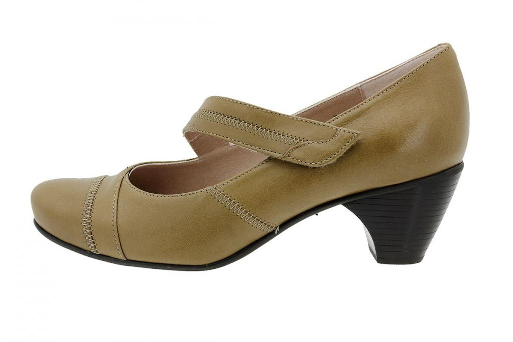 Mary-Jane Leather Nut 175403