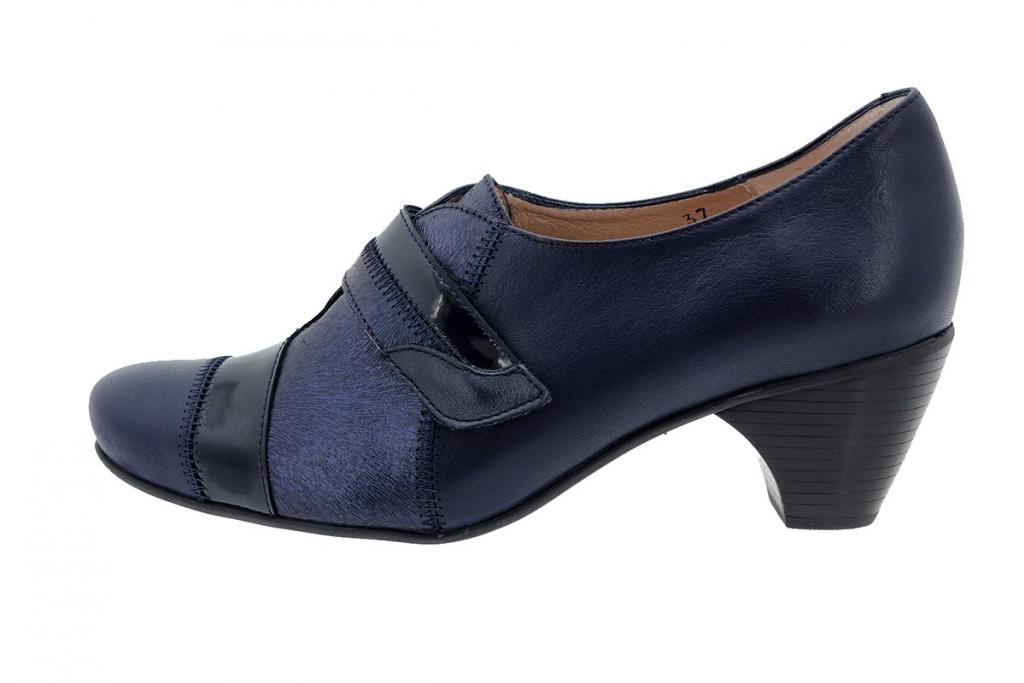 Velcro Shoe Leather Blue 175406