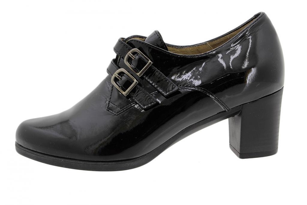 Velcro Shoe Black Patent 175416