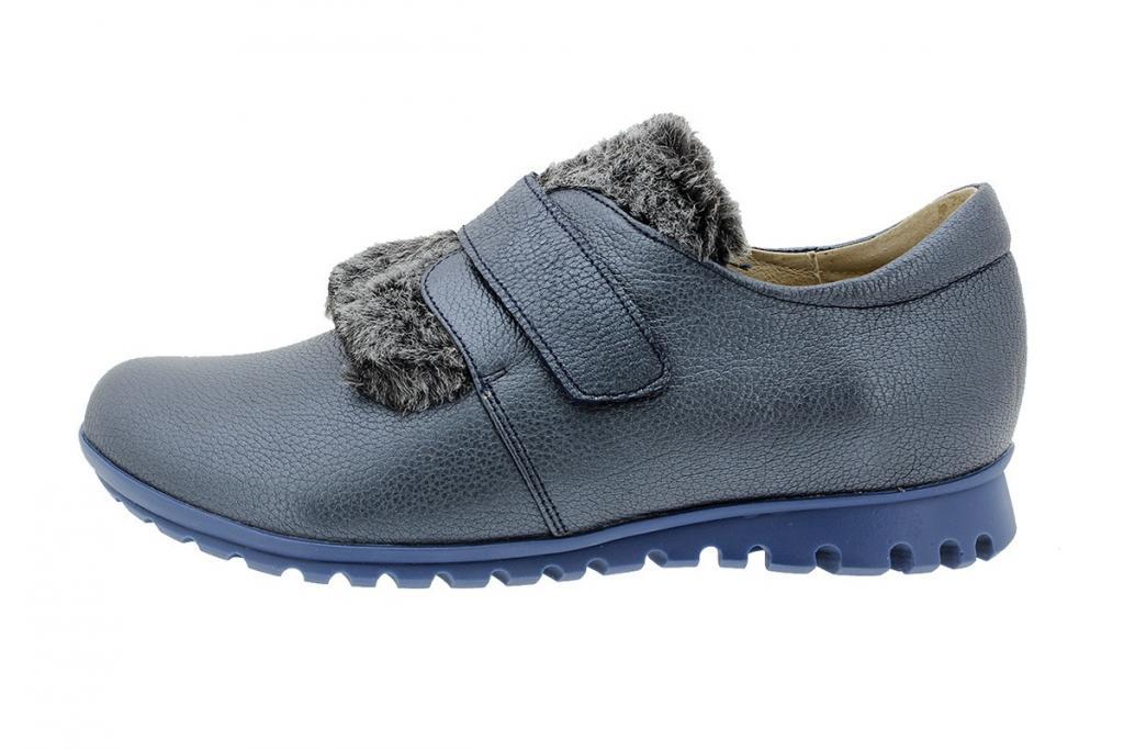 Velcro Shoe Leather Blue 175531