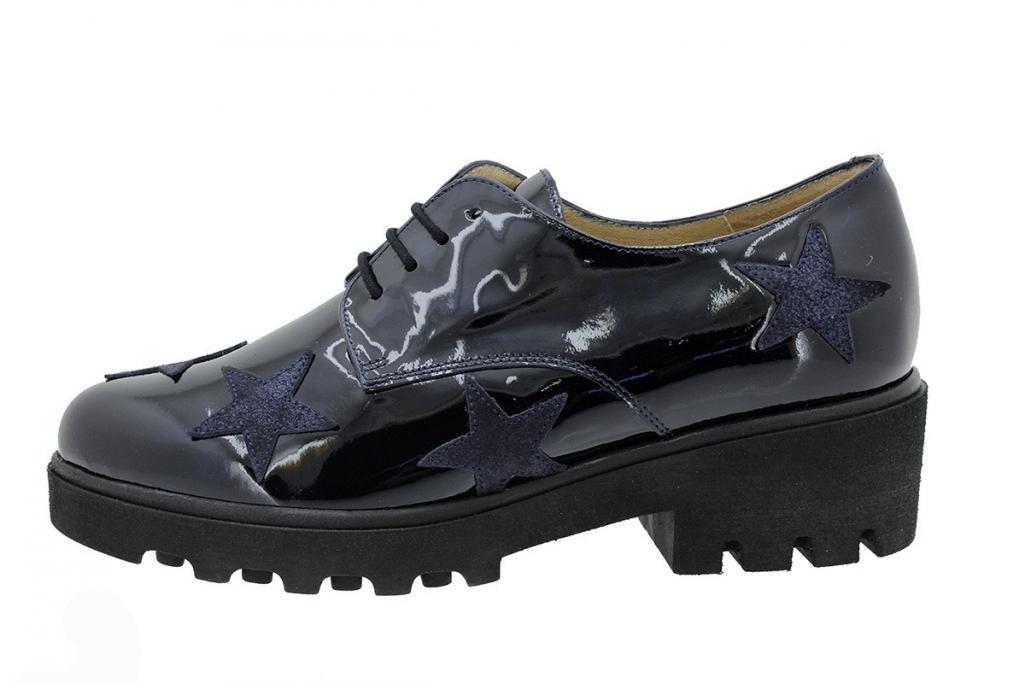 Lace-up Shoe Patent Blue 175552