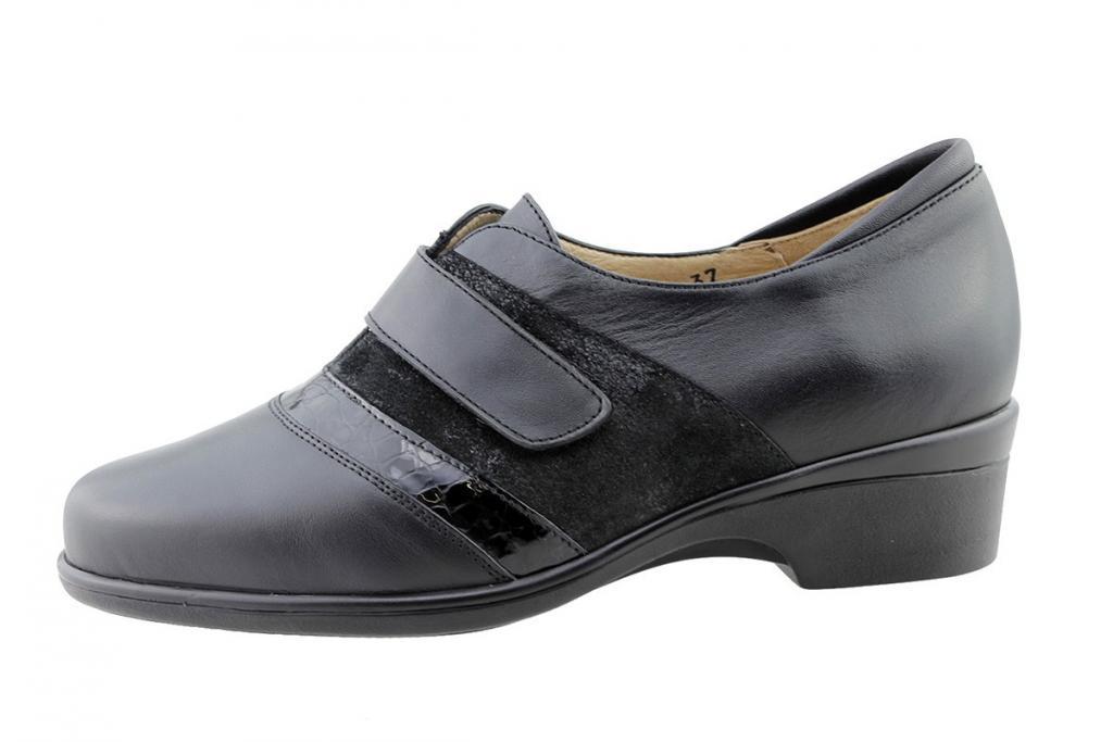Velcro Shoe Black Leather 175602