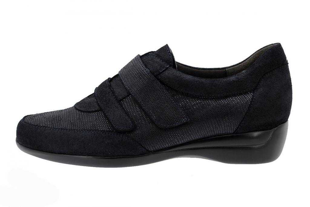 Velcro Shoe Metal Suede Blue 175676