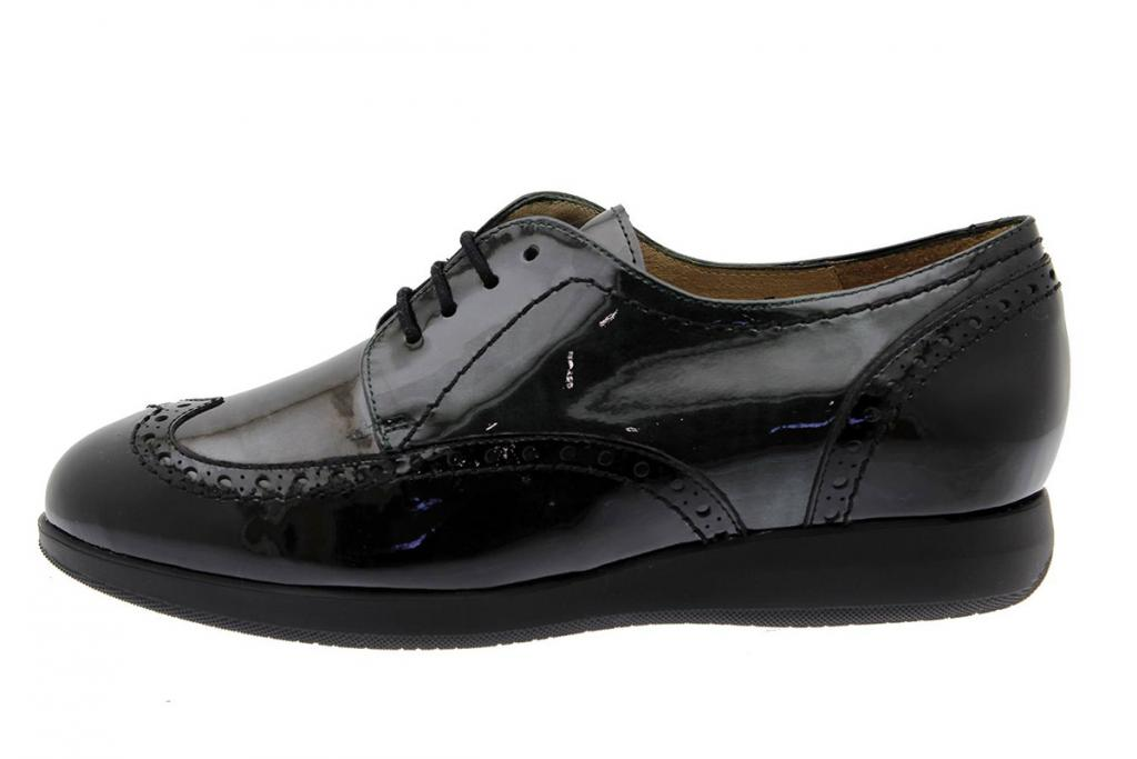 Lace-up Shoe Black-Grey Patent 175630