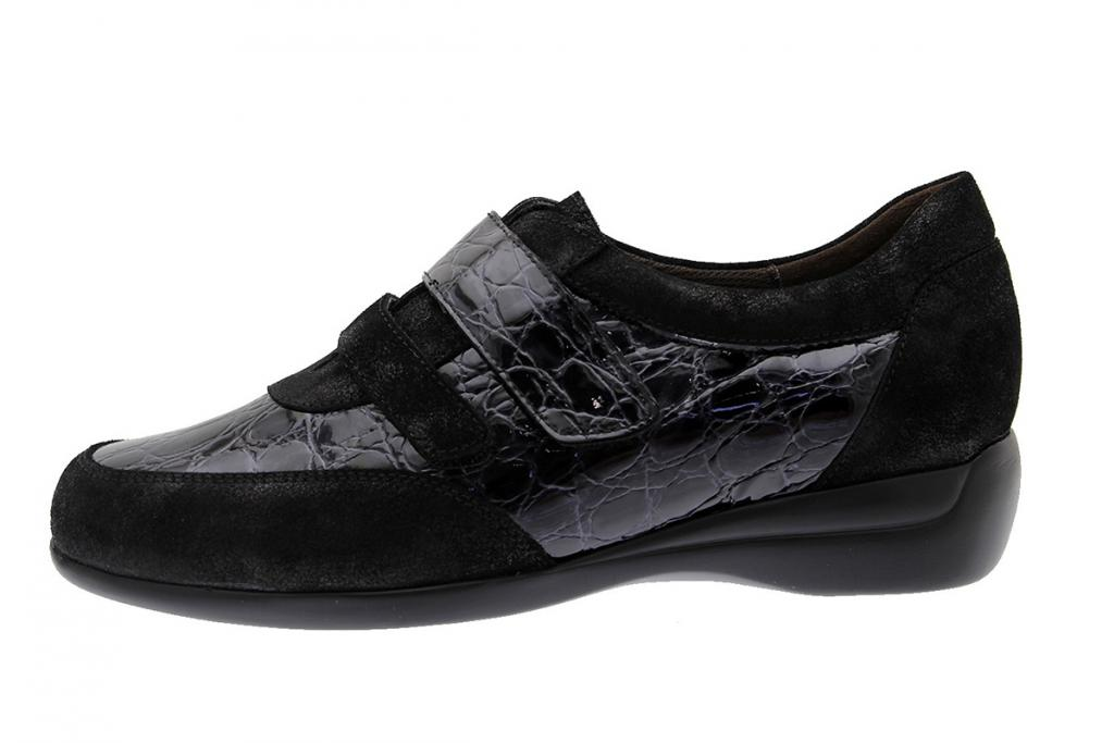 Velcro Shoe Black Metal Suede 175676