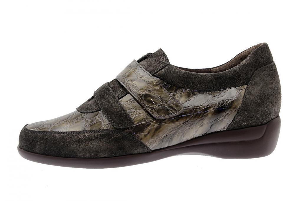 Velcro Shoe Brown Metal Suede 175676