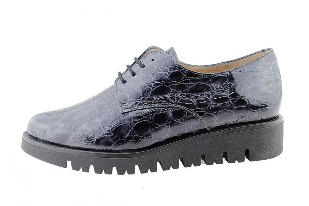 Lace-up Shoe Grey Coco Patent 175701