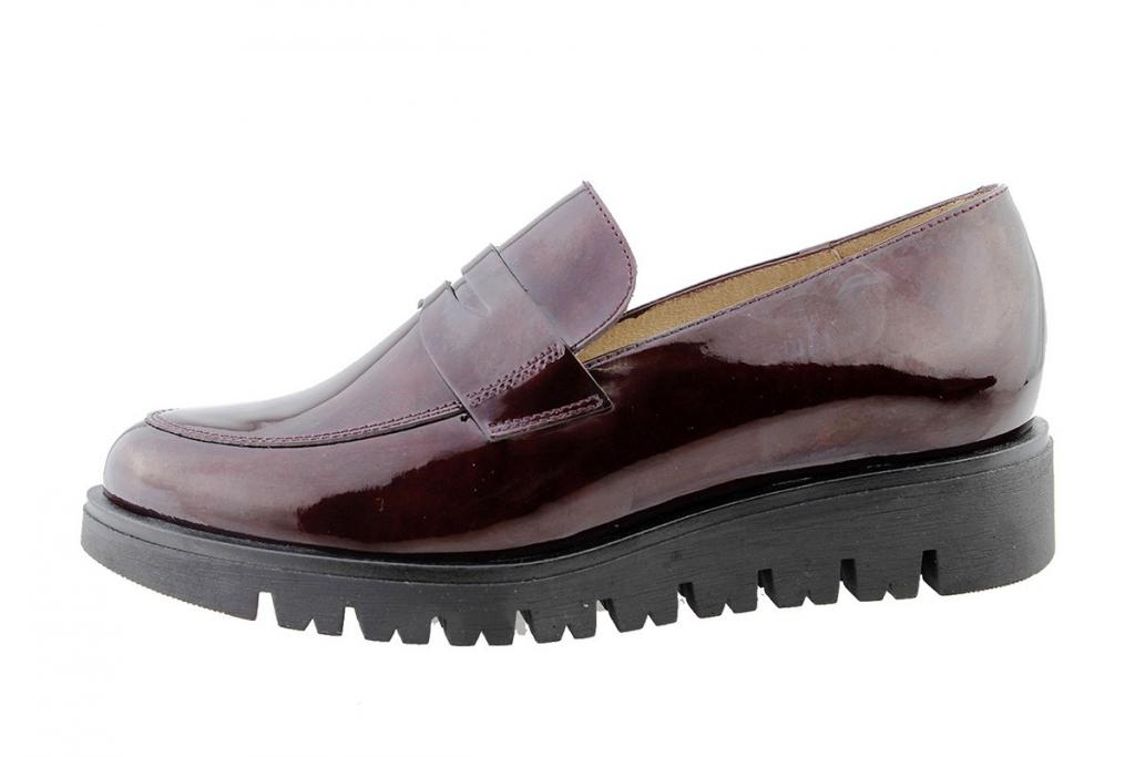 Moccasin Bordeaux Patent 175707