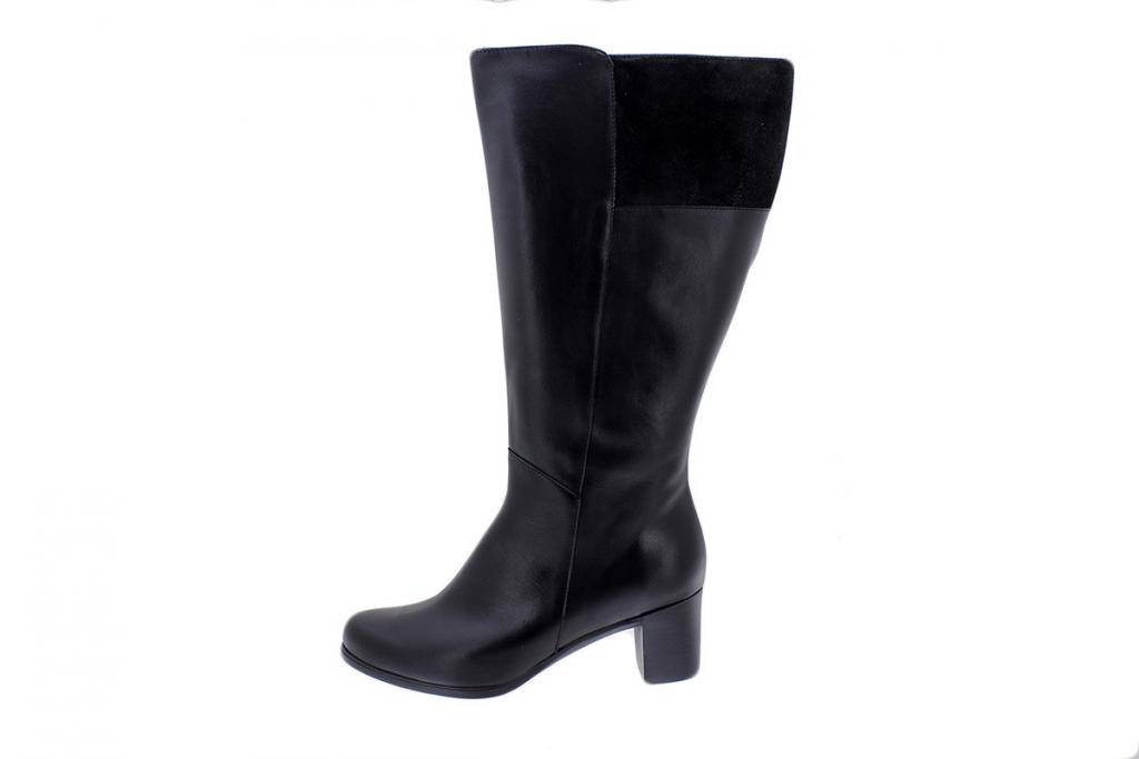 Boot Black Leather 175873 XL