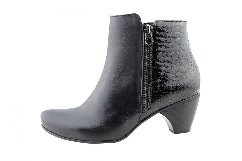 Ankle Boot Black Leather-Coco 175880