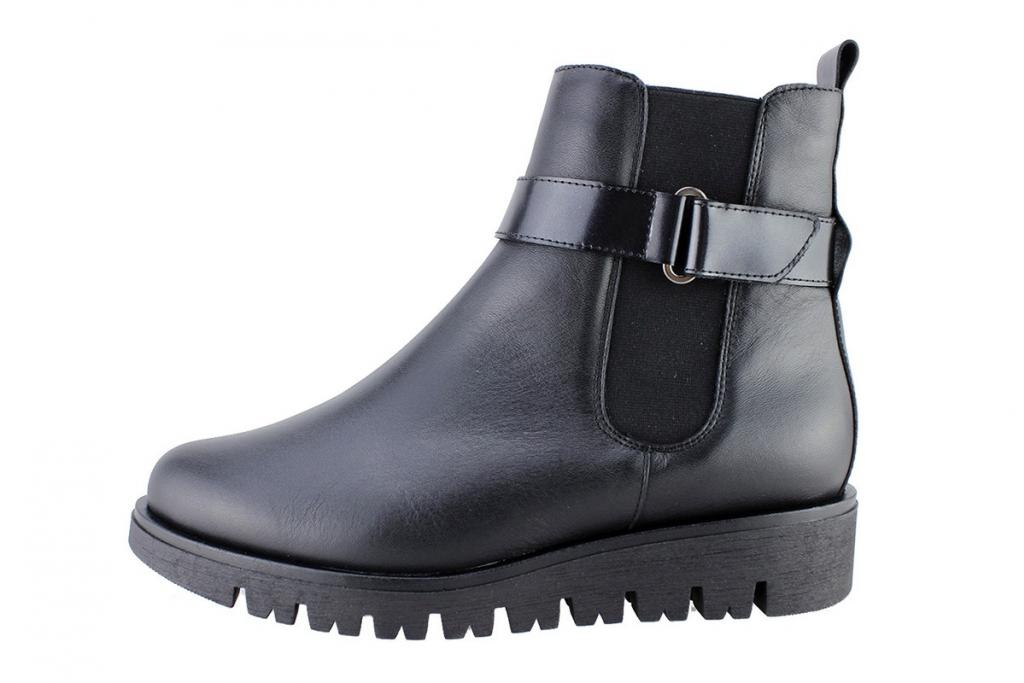 Ankle Boot Black Leather 175905