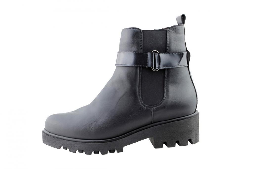Ankle Boot Black Leather 175928