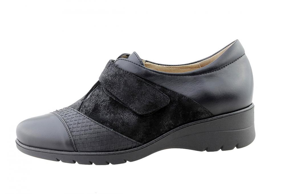 Velcro Shoe Black Leather 175956