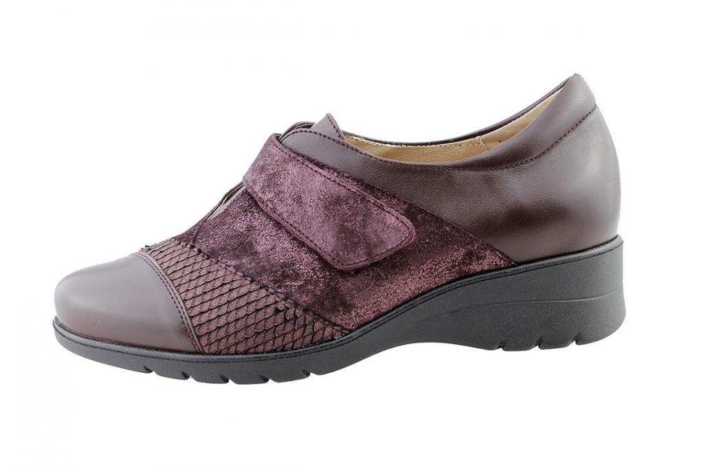Velcro Shoe Bordeaux Leather 175956
