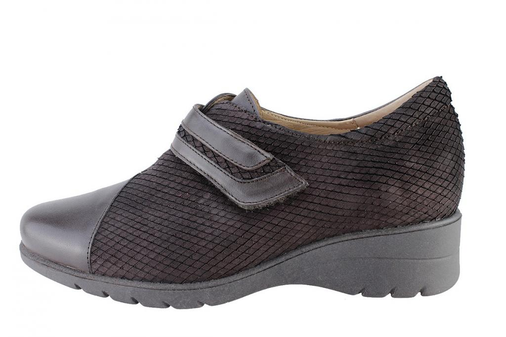 Velcro Shoe Brown Leather 175962