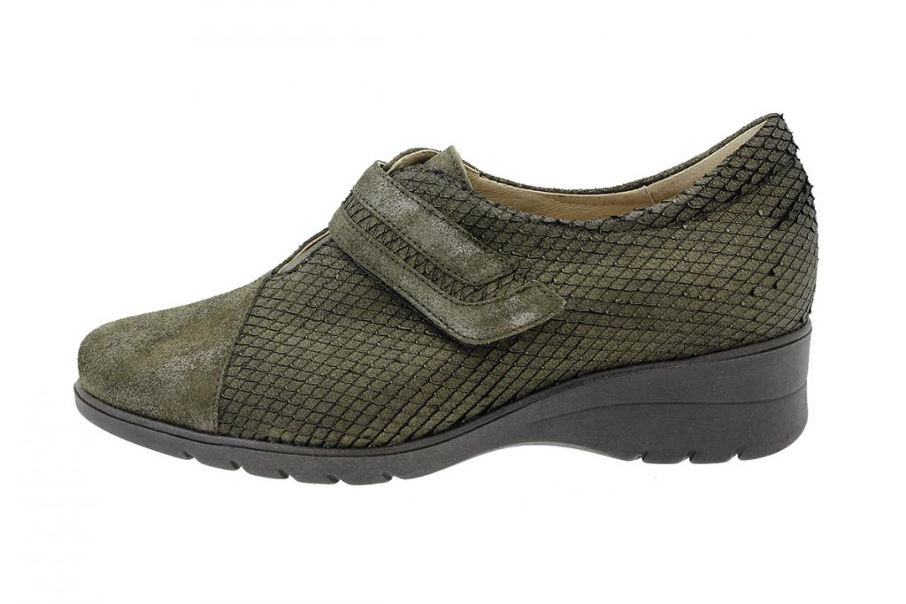 Velcro Shoe Metal Suede Green 175962