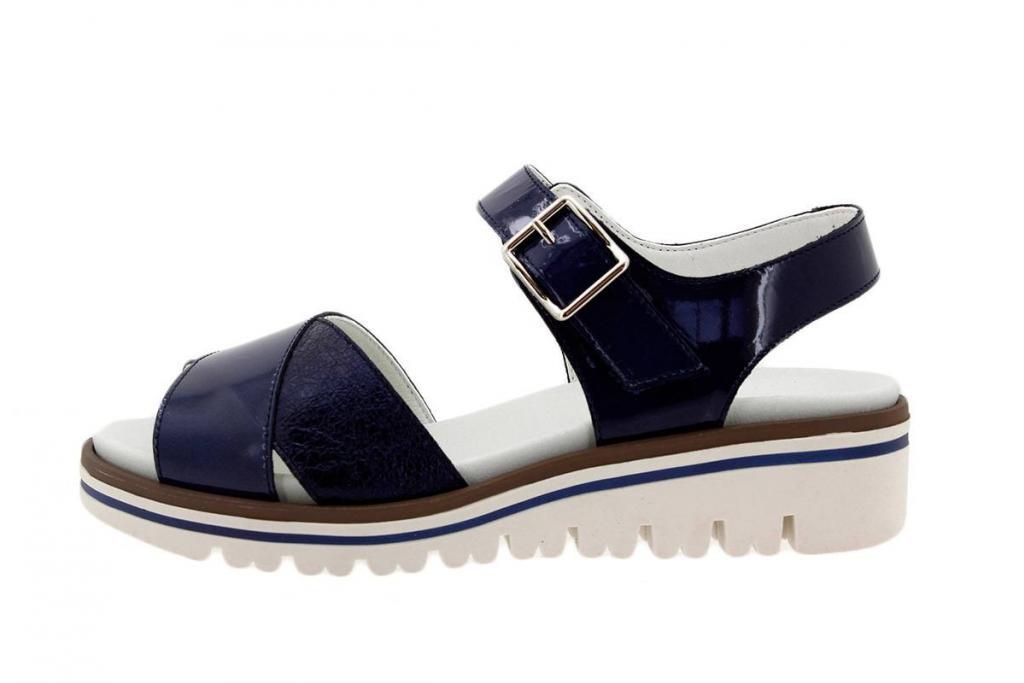 Removable Insole Sandal Patent Blue 1778