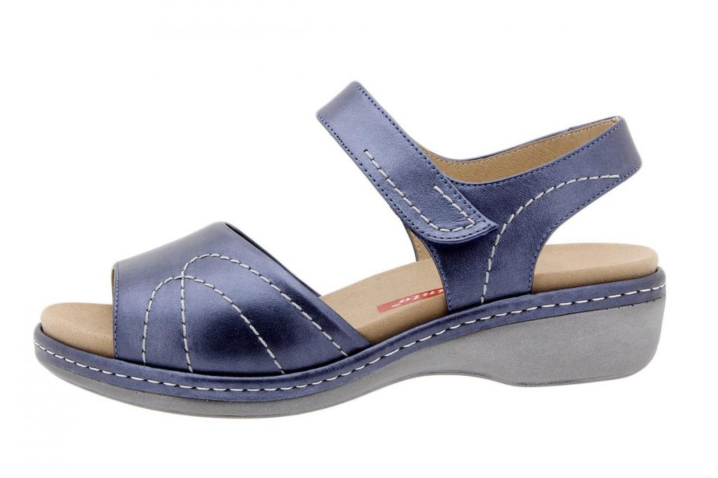 Removable Insole Sandal Metal Blue 1801