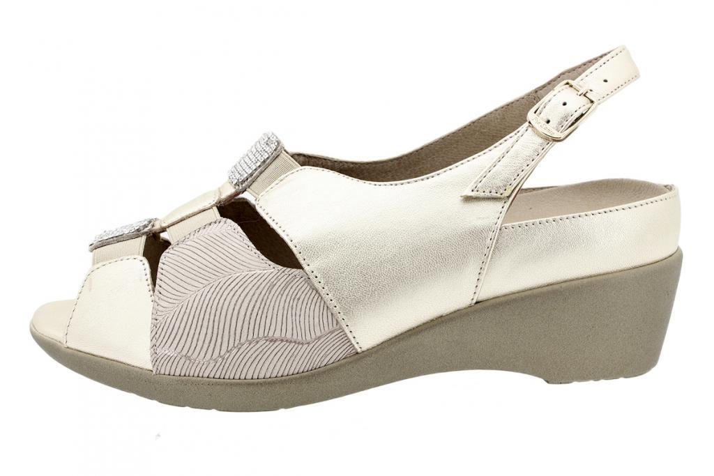 Removable Insole Sandal Platinum Metal 180159