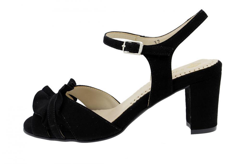 Heel Sandal Black Suede 180255