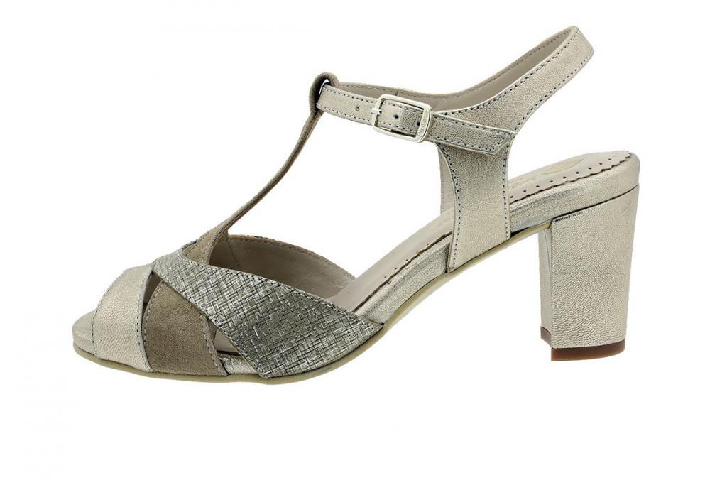 Heel Sandal Platinum Metal 180258