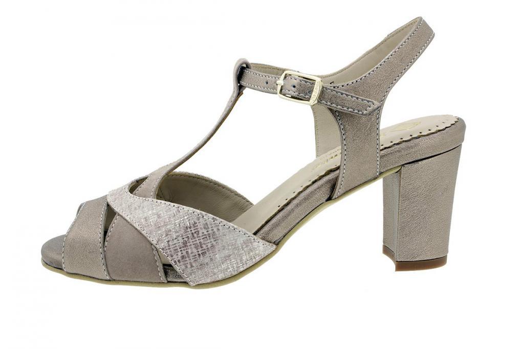 Heel Sandal Nude Metal 180258
