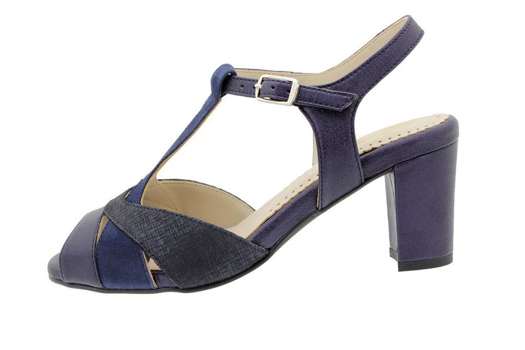 Heel Sandal Blue Metal 180258
