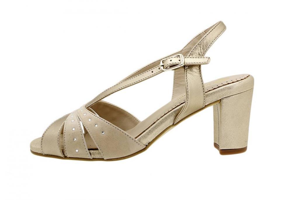 Heel Sandal Platinum Metal 180260