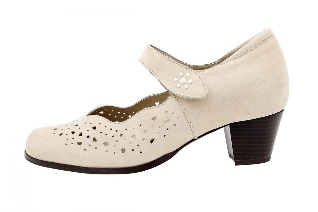 Mary-Jane Beige Metal Suede 180463