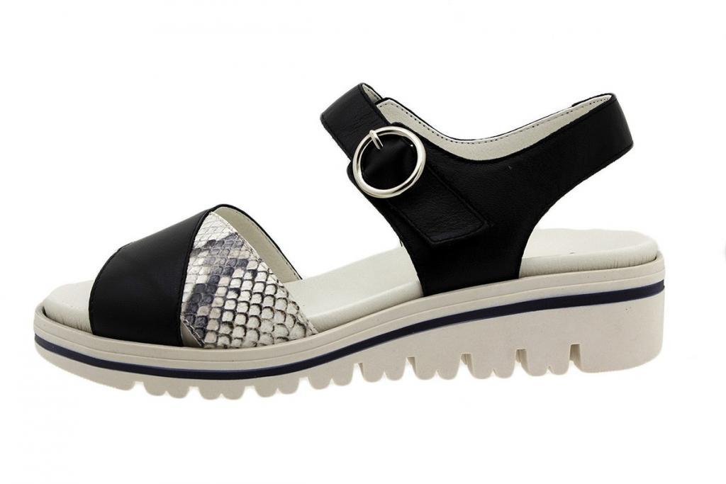 Removable Insole Sandal Black Leather 180778