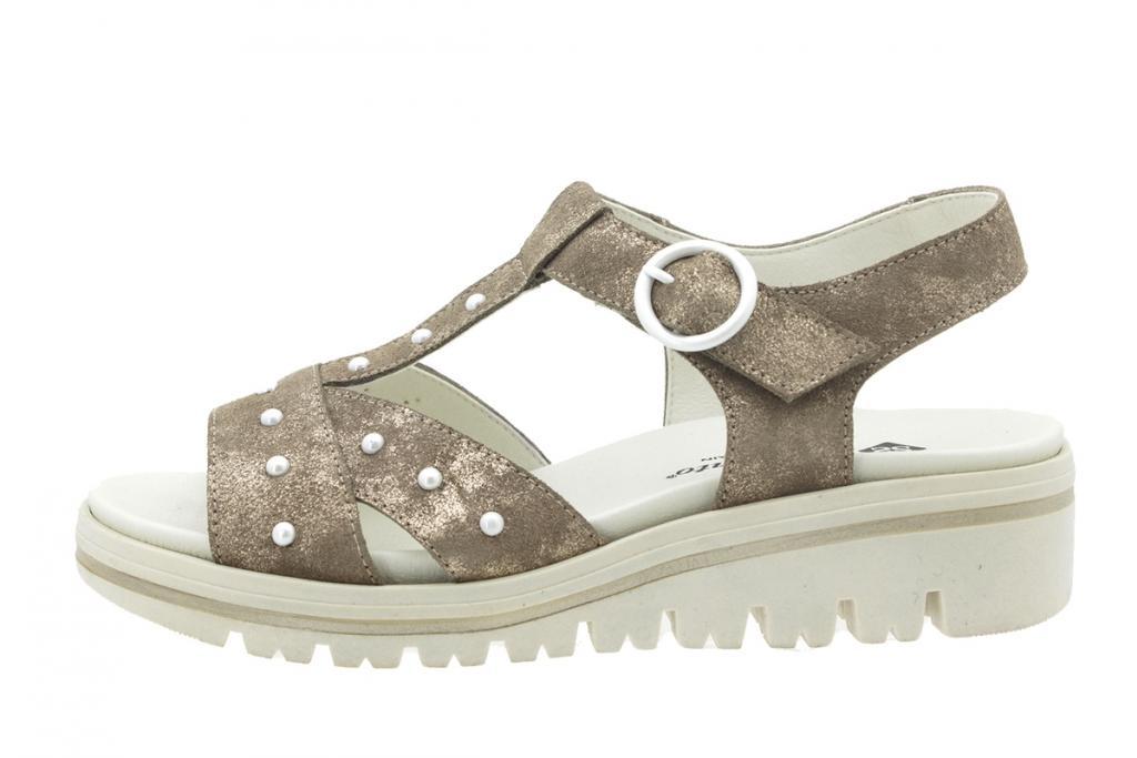 Removable Insole Sandal Mink Metal Suede 180783