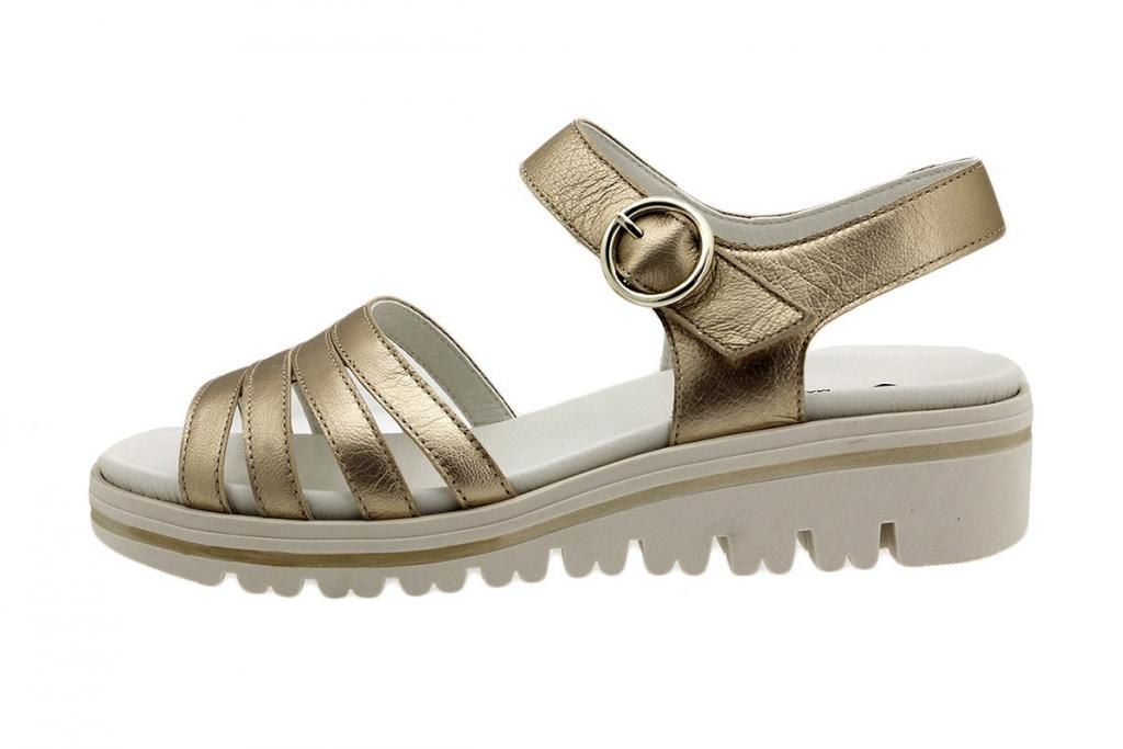 Removable Insole Sandal Platinum Metal Suede 180786