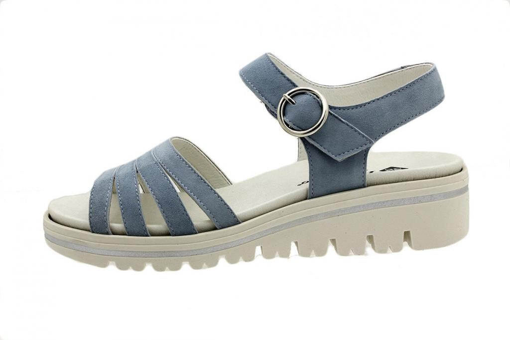 Removable Insole Sandal Blue Suede 180786