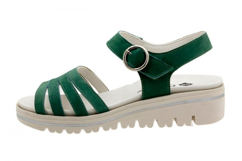 Removable Insole Sandal Green Suede 180786