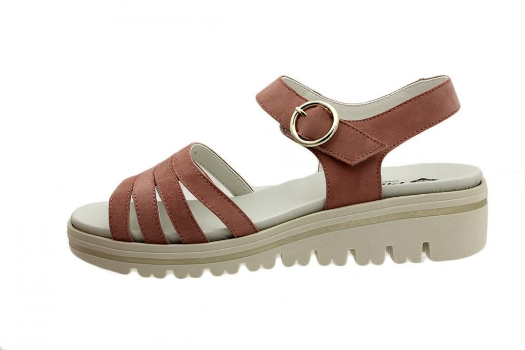 Removable Insole Sandal Pink Suede 180786