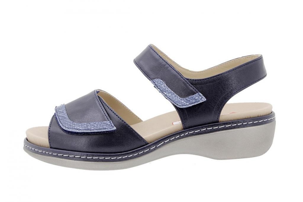 Removable Insole Sandal Blue Leather 180802