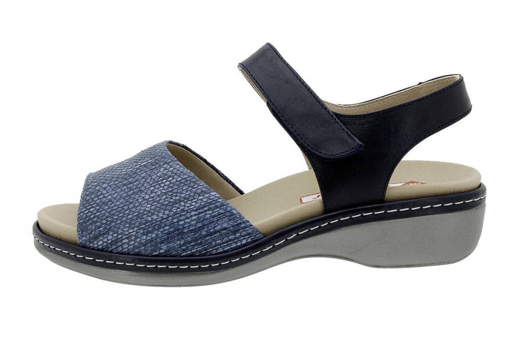 Removable Insole Sandal Blue Print 180807