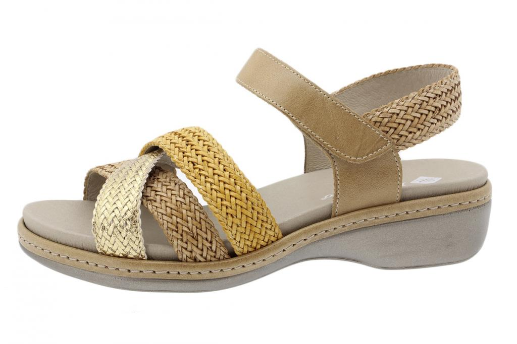 Removable Insole Sandal Gold-Clay-Ochre Interlaced 180809