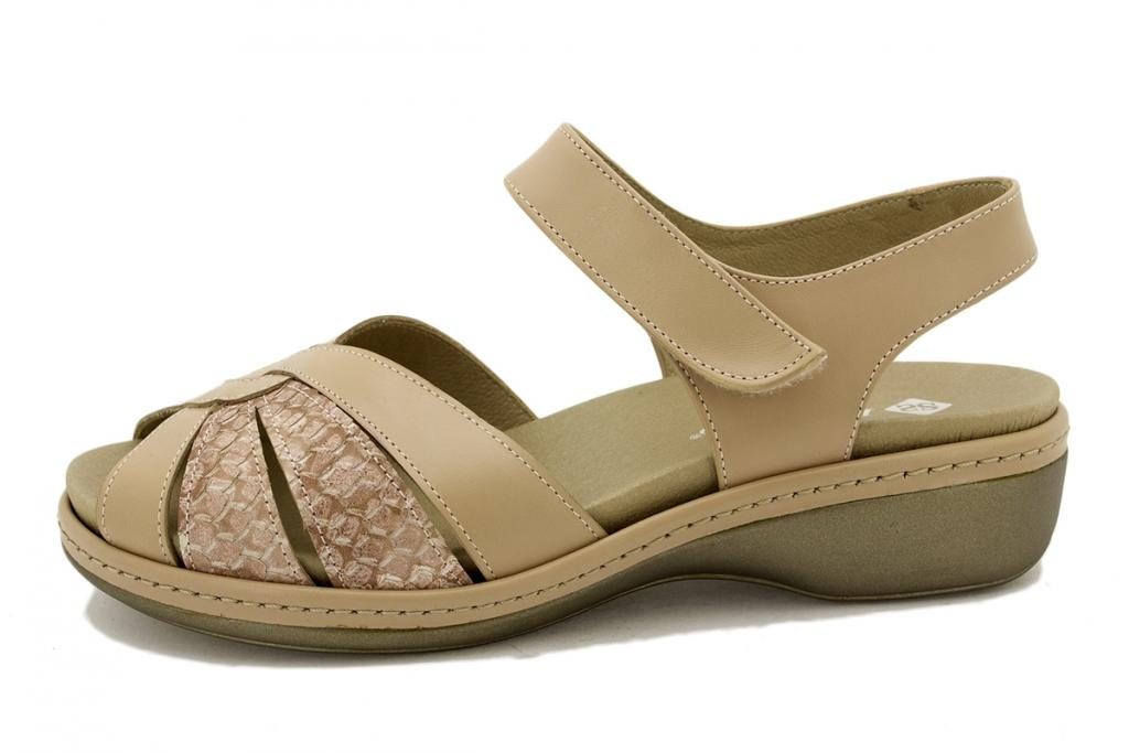 Removable Insole Sandal Nude Leather 180812